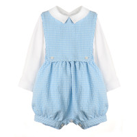 Sophie & Lucas Blue Classic Boy Overall