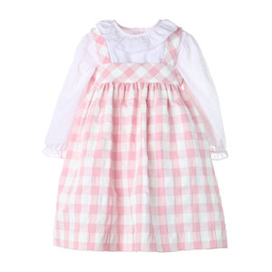 Sophie & Lucas Pink/White Check Classic Jumper