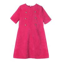 Gabby Fucshia Penny Corduroy Dress