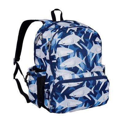 "Wildkin Sharks Backpack 17"""