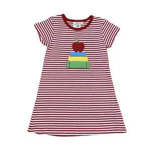 Luigi Books w/Apple Stripe Knit Dress