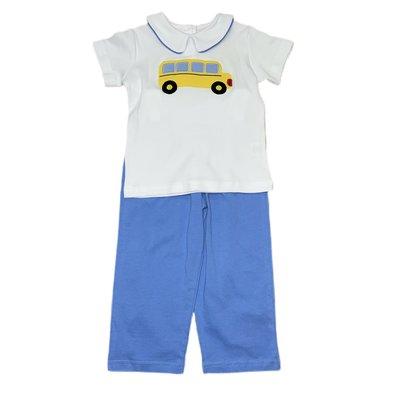Luigi School Bus Boy Knit Pant Set