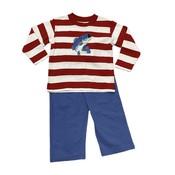 Luigi Trout Stripe Knit Pant Set