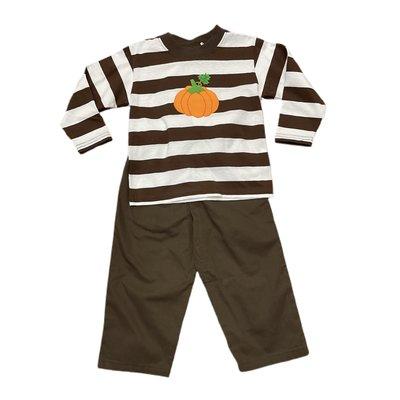Luigi Pumpkin Chocolate Stripe Pant Set