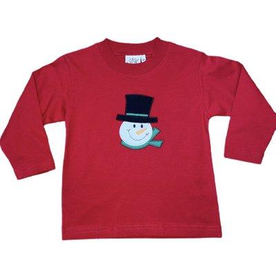 Luigi Snowman Head w/Scarf L/S Tee