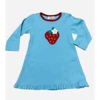 Luigi Strawberry Turquoise Dot Dress