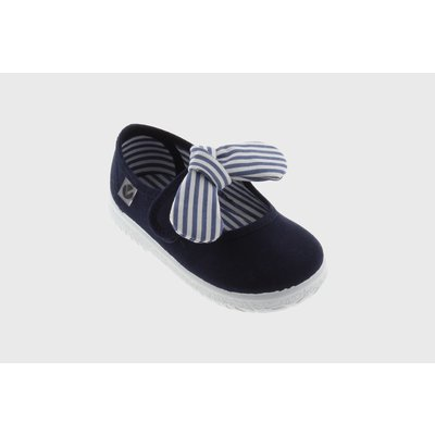 Victoria Bow Navy Maryjane Sneaker