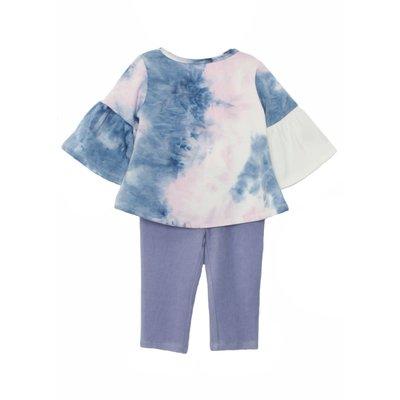 Mabel & Honey Frilly Lady Knit Tie Dye 2PC Set