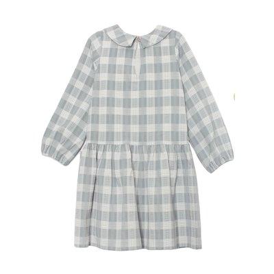 Mabel & Honey Sweet Lullaby Plaid Woven Drop Waist Dress