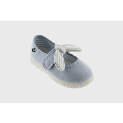 Victoria Bow Lt Blue Maryjane Sneaker