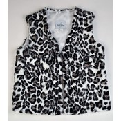 Maggie Breen Black/White Animal Fur Vest