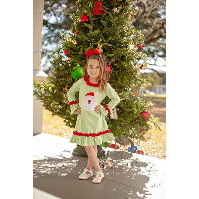 Trotter Street Kids Santa Face Dress