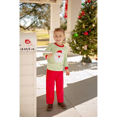 Trotter Street Kids Santa Face Boy's Pant Set