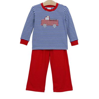 Trotter Street Kids Firetruck Long Sleeve Boy's Pant Set
