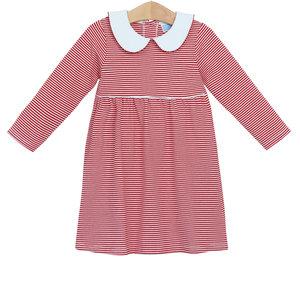 Trotter Street Kids Claire Red Stripe Dress