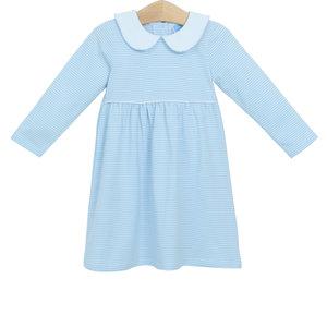 Trotter Street Kids Claire Light Blue Stripe Dress