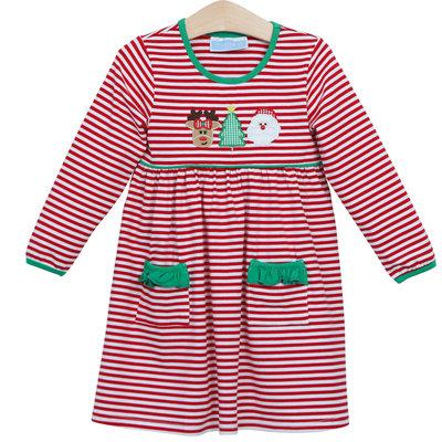 Trotter Street Kids Christmas Trio Pocket Dress