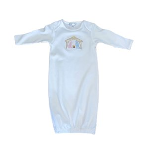 Magnolia Baby Away In The Manger Lap Gown White