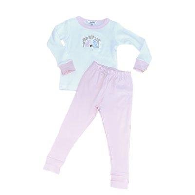 Magnolia Baby Away In The Manger Long Pajama Pink