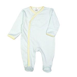 Baby Loren Luke Blue And Yellow Gingham Pima Footie