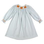 Baby Loren Pumpkin Patch Smocked Pima Bishop Dress