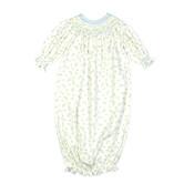 Baby Loren Diana Floral Pima Smocked Bishop Gown