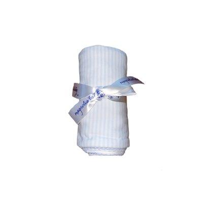 Magnolia Baby Magnolia Baby Stripes Blanket Light Blue