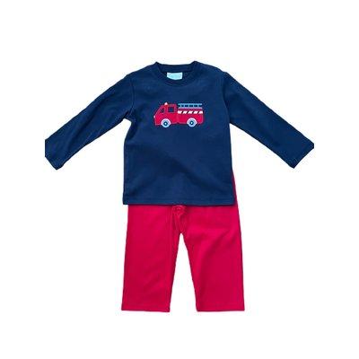 Zuccini Knit Boy Harry's Firetruck Set