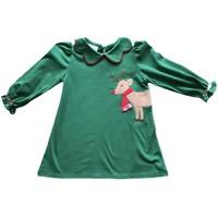 Zuccini Reindeer Blythe Knit Green Dress