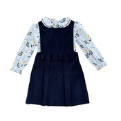 Zuccini Blanken Baker Floral Hillie Blouse with Navy Cord Jumper