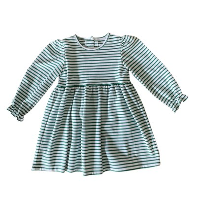 Zuccini Knit Thin Green Stripe Mackenzie Dress