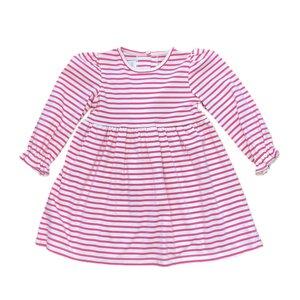 Zuccini Knit Thin Fuchsia Stripe Mackenzie Dress