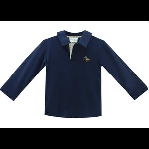 Zuccini Mallard Embroidered Navy Polo