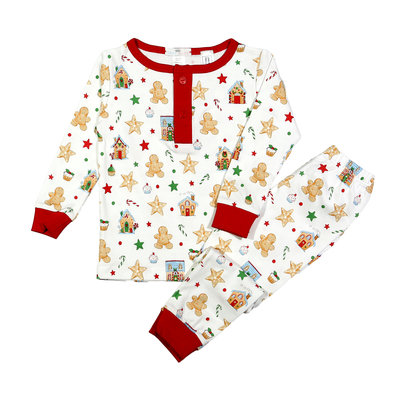 Baby Loren Gingerbread Man Girl 2PC Loungewear