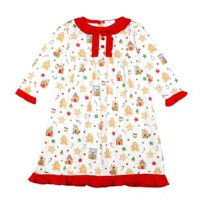 Baby Loren Gingerbread Man Girl Nightgown Loungewear