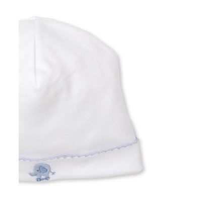 Kissy Kissy Jungle Joy Light Blue and White Hat