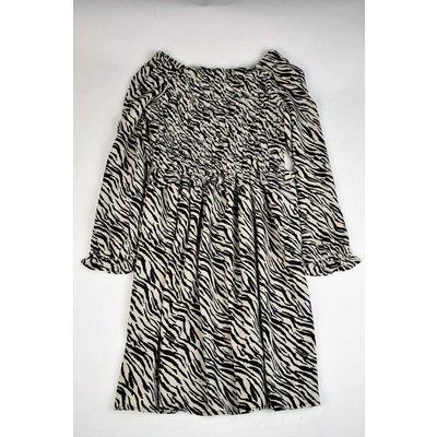 Maggie Breen Zebra Shirred Dress