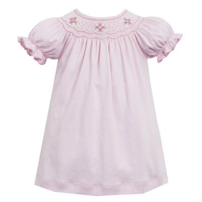 Petit Bebe Pink Knit Geometric Bishop