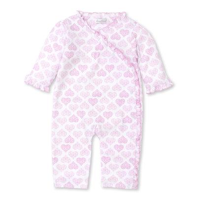 Kissy Kissy Pink Heart Ruffle Playsuit