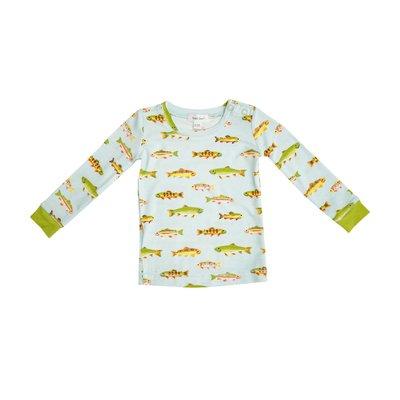 Angel Dear Freshwater Fish Blue Loungewear Set