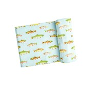 Angel Dear Freshwater Fish Blue Swaddle Blanket