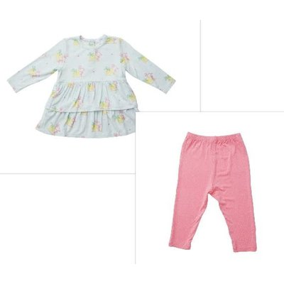 Angel Dear Neon Flamingo Ruffle Tunic/Legging Set