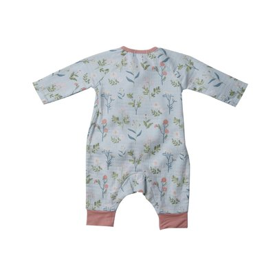 Angel Dear Meadow Floral Wrap Blue Coverall