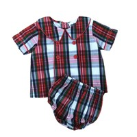 True Christmas Piped Chest Boy's Bloomer Set