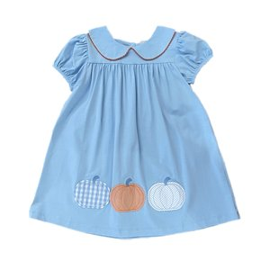 True Pumpkin Applique Dress