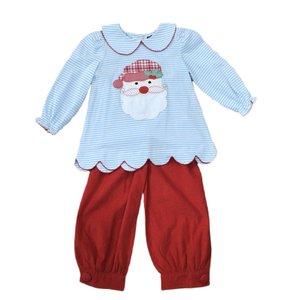 True Santa Applique Girl's Pant Set