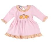 Magnolia Baby Sweet Little Pumpkin Long Sleeve Toddler Dress