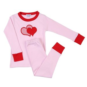 Magnolia Baby Love Applique Long Pajama Red and Pink