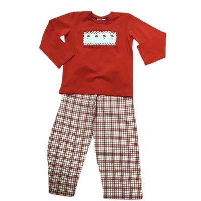 True Smocked Santa Boy's Pant Set