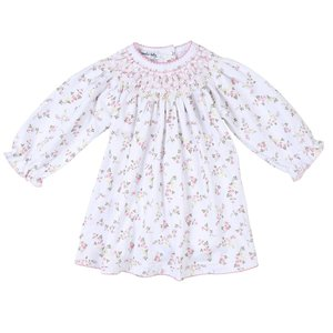 Magnolia Baby Grace's Classics Bishop Pink Printed Long Sleeve Toddler Dress